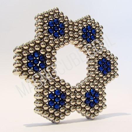 משחקי מגנט - פרח ניקל וכחול