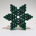 משחקי מגנטים - כוכב ירוק מכדורי מגנט